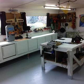 My workshop/man cave - Woodworking Project by Thorreain