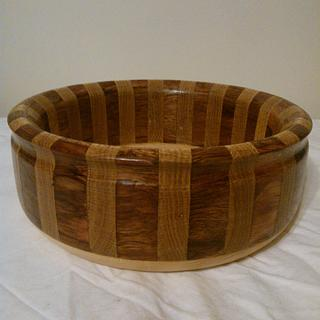 Bubinga and Oak Bowl - Project by Will