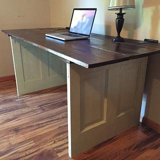 Reclaimed Doors Computer Desk - Project by Michael Ray