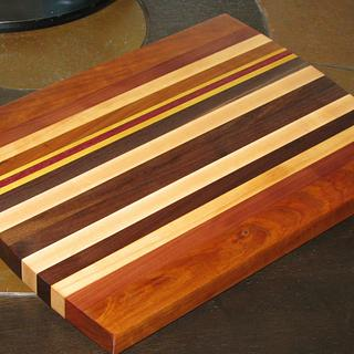 Multi-wood Cutting Board - Woodworking Project by br1896
