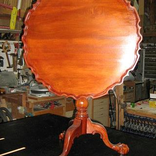Piecrust tilt top table, finally after 8 years