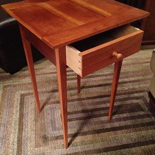 Little Shaker Table - Fully tapered Legs Cherry