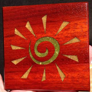 Here Comes The Sun Coaster - Veggie Style - Cake by Terry