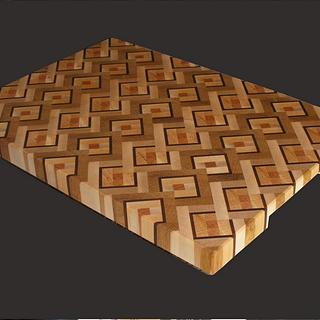 My first end-grain cutting board - Woodworking Project by Lightweightladylefty