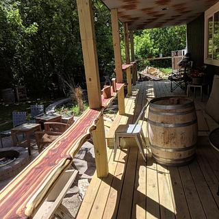 Cedar bar/railing tops - Project by Wes Louwagie