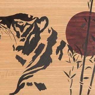 Japanese style tiger marquetry - Project by Andulino