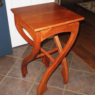 """""""Pirouette"""" Table I call Crazy Legs - Woodworking Project by oldrivers"""