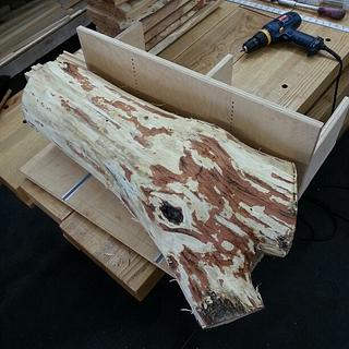 Bandsaw Sled for Resawing Logs & some BS Crosscuts - Woodworking Project by HorizontalMike