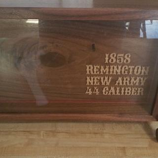 Display Case for a Gun - Woodworking Project by David Roberts