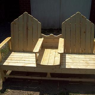 cozy bench - Woodworking Project by jim webster