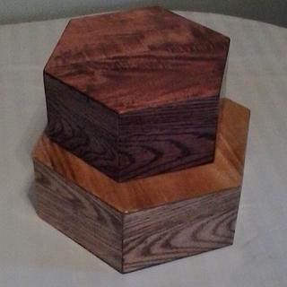 Simple Hexagon Boxes from reclaimed pallet wood