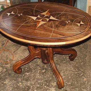 Marquetry table to order - Project by Andulino