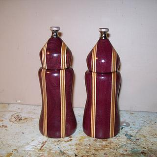 salt and pepper mills - Woodworking Project by wiser1934