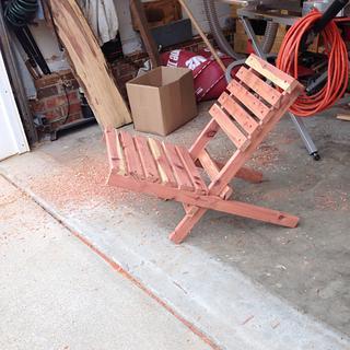 Bighig beach chair - Woodworking Project by Bill Higgins