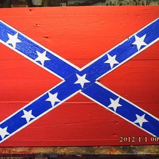 confederate battle flag - Cake by barnwoodcreations