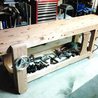 Roubo-style Workbench - Woodworking Project by Darin
