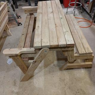Picnic table/bench - Woodworking Project by Ed Schroeder