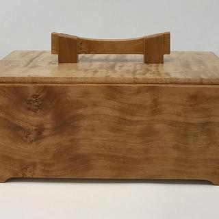 Figured Cherry with Maple and Walnut Keepsake Boxes - Cake by kdc68