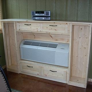 HVAC Unit Surround:  Display and Storage Cabinet - Woodworking Project by Shin