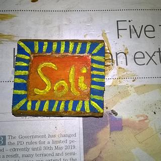 Fridge Magnet: Soli - Woodworking Project by Bo Peep