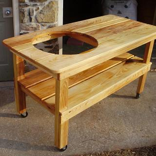 Big Green Egg BBQ Table - Cake by oldrivers