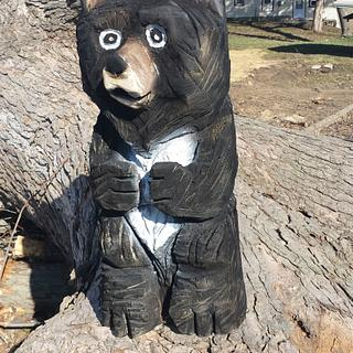 chainsaw bear - Woodworking Project by Carvings by Levi