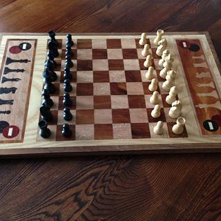 Chess/Checkers Board  - Cake by Terry