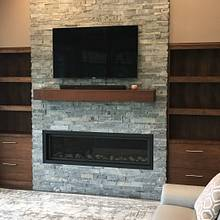 Walnut Built-ins and Mantel - Woodworking Project by dacabinetguy
