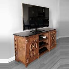 Working Walnut Gear Entertainment Center - Woodworking Project by BerchtoldDesignBuild