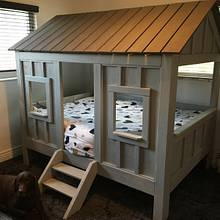 Kid's Cabin Bed - Woodworking Project by Wild Rose Woodworking