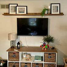 Simple over-TV shelf - Woodworking Project by horstbc