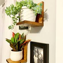 Wooden Plant Shelves - Woodworking Project by Emily