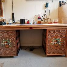 Shop Marquetry Desk - Woodworking Project by shipwright