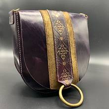 Vintage purple crossbody bag  - Leatherworking Project by Nafadileather