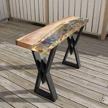 River Rock Console Table - Woodworking Project by scorpionwerx
