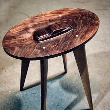 Mustang Fastback Side Table - Woodworking Project by BerchtoldDesignBuild