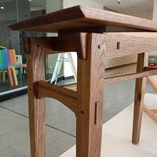 Utility table inspired by Japanese and Arts and Craft furniture design - Woodworking Project by Chinwagfurniture