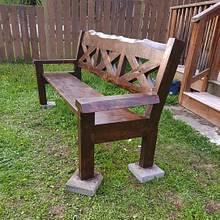 Rustic Garden Bench - Woodworking Project by SewardDesign