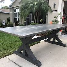 Grey table with apron  - Woodworking Project by Ueltusher