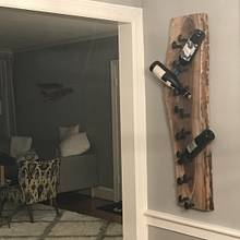 Walnut and Railroad Spike wine rack  - Woodworking Project by NewmanSpecials