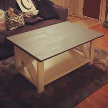 Rustic coffee table - Woodworking Project by Coal River Workshop