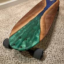 Epoxy Resin Longboard - Woodworking Project by Omid Nabavizadeh