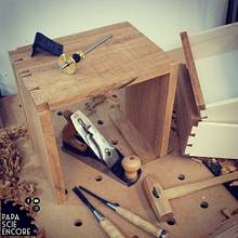 Tiny cabinet - dovetailing training  - Woodworking Project by Aurélien