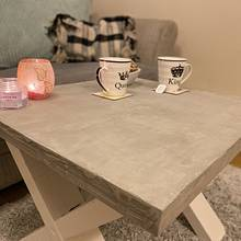 Concrete veneer coffee table  - Woodworking Project by Sam