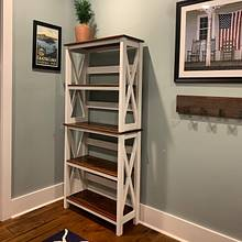 Farmhouse Bookshelf - Woodworking Project by HansonMadeWW