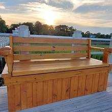 Outdoor Dock Bench with Storage - Woodworking Project by HooverBuilds