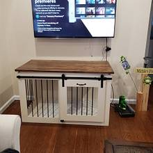 Dog Kennel/Family Room Furniture - Woodworking Project by omegawrx