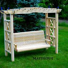Beautiful White Cedar Arbour swing - Woodworking Project by Matteout