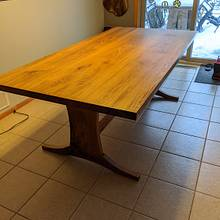 Dining table - Woodworking Project by Wes Louwagie
