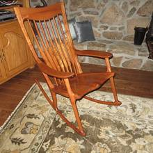 Maloof style Elegant Rocker - Woodworking Project by oldrivers